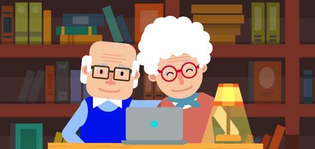babcia i dziadek w internecie